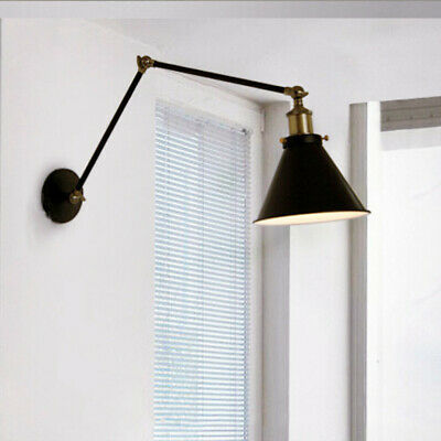 Retro Industrial Wall Swing Arm Light Foldable Wall Lamp Loft Sconce Home Decor