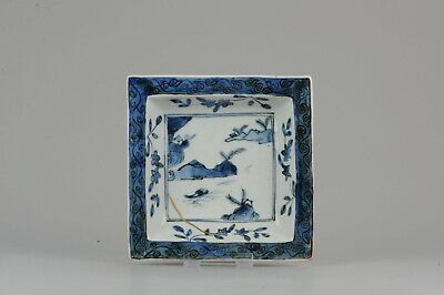 Antique Chinese Porcelain Late Ming or Transitional Plate Landscape  [:z...