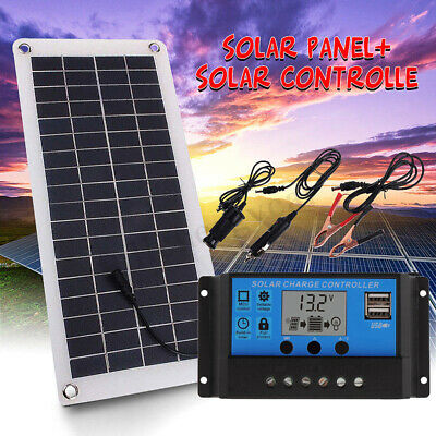 25W Portable Outdoor Solar Panel Charger Power Supply Kit for Car Boat Yacht