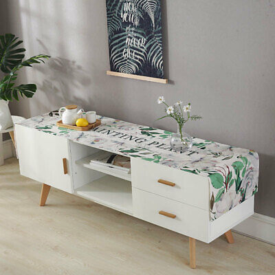 TV Cabinet Cover Towel Waterproof Linen Tablecloth Fabric Coffee Rectangular