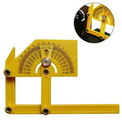 180° Goniometer Angle Finder Miter Gauge Arm Measure Ruler Plastic Protractor CH