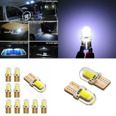 T10 501 COB LED Bulb Lamp Silicone Car Lights Wedge Interior Sidelight Lamp New
