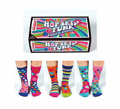 United Oddsocks - Girls Funky Socks - Size 12-5.5 - Girls Birthday Gift