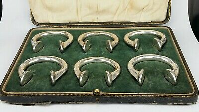 Silver plated copper bronze manilla slave tokens napkin rings boxed & numbered