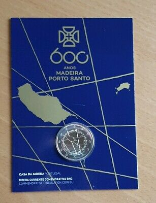 "2€ Conmemoratives Portugal 2019 ""Madeira""Coin Card."