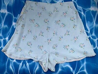 Antique Vintage 30 40s Silk Cotton Floral Lace Cami French Knickers WW2 Landgirl