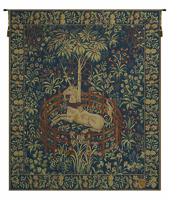 La Licorne Captive French Medieval Unicorn Woven Tapestry Wall Hanging
