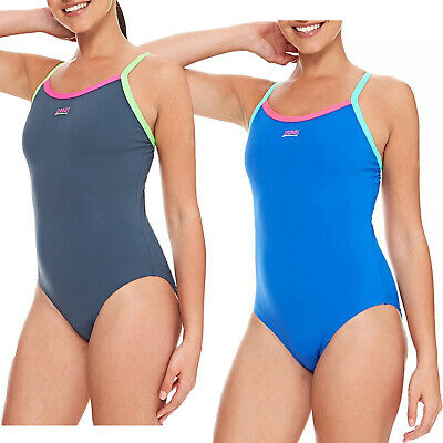 fe35a05c038c4 ZOGGS WOMEN CANNON Strikeback Swimsuit - Navy/Funray/Pink - EUR 13 ...