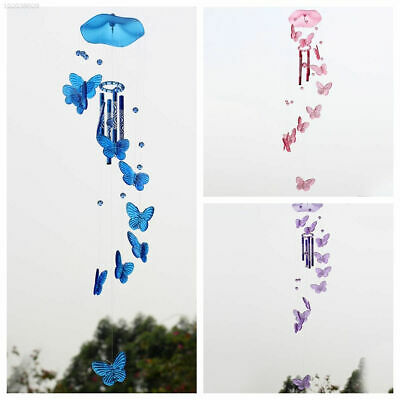 8CC7 Crystal Butterfly Mobile Wind Chime Bell Ornament Lucky Hanging Decor 937D