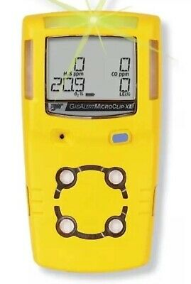 BW MicroClip XL Gas Detector - H2S O2 CH4 (LEL) CO c/w Charger