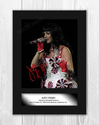 FREE DELIVERY KATY PERRY #1 Signed Photo Print A4 Mounted Photo Print