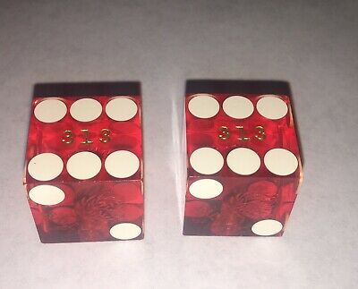 "Vintage Pair Of Casino Dice ""Bally's"" Las Vegas With Matching Numbers"