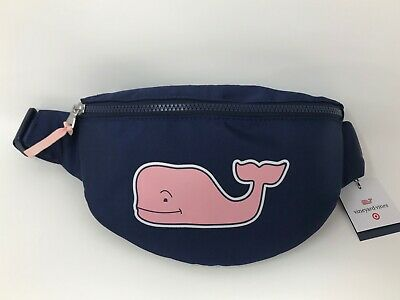 "Vineyard Vines Target Pink Whale Fanny Pack- Navy ""IN HAND"" FREE SHIPPING"