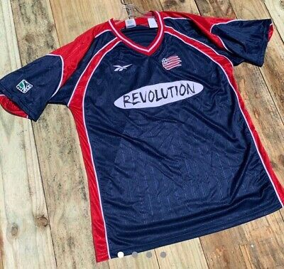 new product 0fcda 77920 VINTAGE REEBOK MLS NEW ENGLAND REVOLUTION SOCCER JERSEY IN SIZE Large Adult  MLS