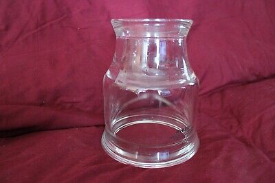 "PYREX DRAINLINE / LAB GLASS PIPE REDUCER 6"" to 4"" GARDEN LAMP DYI VINTAGE RARE"