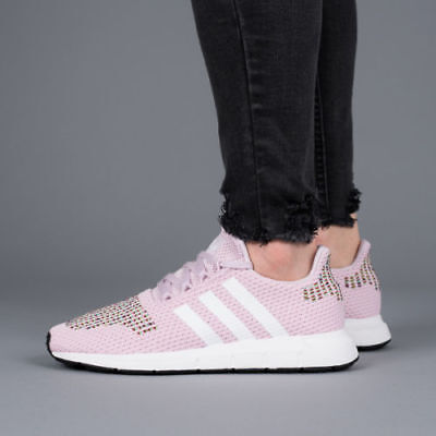 47fe1296e59684 Adidas Originals Swift Run Women's (Size 10) Pink / White / Black CQ2023