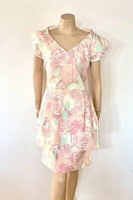 Vintage Inspired Silk Dress By Mrs Press (Deadstock -never Worn) Size 10