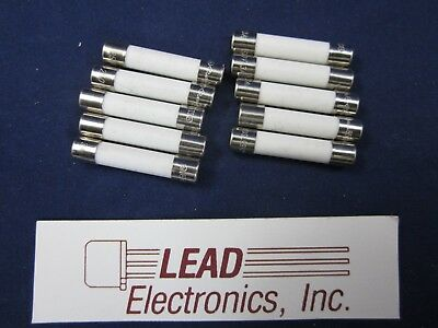 Qty 10 Fuse 25-Amp 6Mm X 30Mm Equal To Abc-25 , 0314025 Ceramic Fast Acting