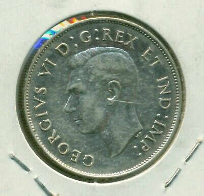 Canada 50 cents 1947 Maple Leaf VF