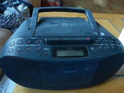 Sony Cfd-S70 Portable Cd Player Cassette Tape Mega Bass Boombox Am Fm Radio Mp3