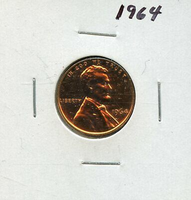 1964 1c Proof United States Lincoln Memorial Cent BG227
