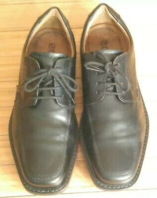 8c86b57cb9 Ecco Black Leather Oxfords, 42 Men's 8-8.5 Extra Width, Comfort Casual/