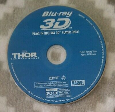 Marvel's Thor: The Dark World Blu-ray 3D Feature Film...Disc Only