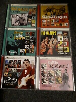Job Lot 6 Rock n Roll CDs - Extended Play ... inc Vincent, Jerry Lee, Champs etc