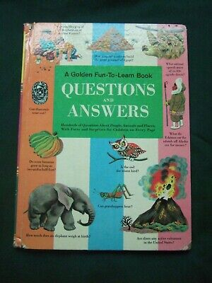 1957 Golden Fun-To-Learn Book Questions & Answers HC 7th Edition Book Facts Elmo