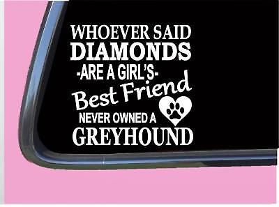 "Greyhound Diamonds TP 505 Sticker 6"" Decal rescue dog racing muzzle track leash"