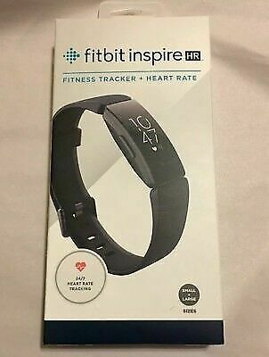 Fitbit Inspire HR Heart Rate & Fitness Tracker - One Size -BLACK- /BRAND NEW/