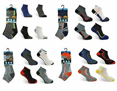 6 Pairs Men's Prohike Performance Trainer Socks  Style  Size 6-11