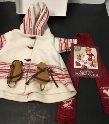 RARE AMERICAN GIRL PLEASANTCO Doll Kirsten/'s Winter  Skating Wool Coat Jacket