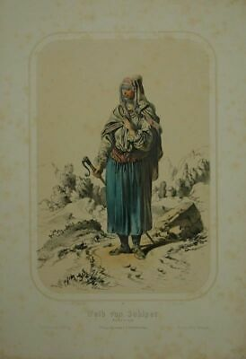 Weib by Schipot. Bukowina. Coloured Tinted Lithography by F.Gerasch Nach