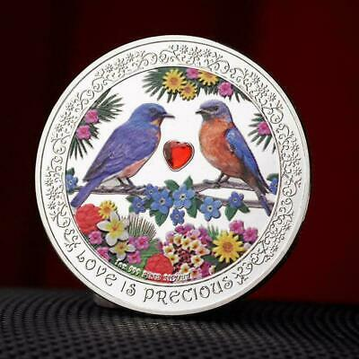 Niue Love Bird with Diamond Heart-shaped Commemorative Coins Hot Fast