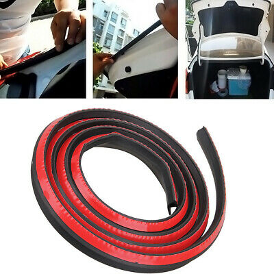 Universal 4M P Type Car Door Noise Rubber Edge Seal Weather Strip Weatherstrip.