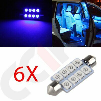 6X 42mm Festoon Dome Map Door Cargo Light 8SMD LED Car Interior Led Lamp Light