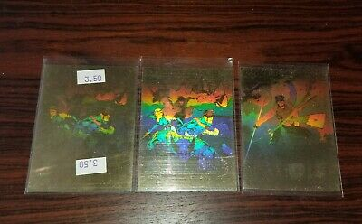 3 1992 Marvel Impel X-Men Series 1 Hologram Chase Trading Card Set XH-3 -(2)XH-5