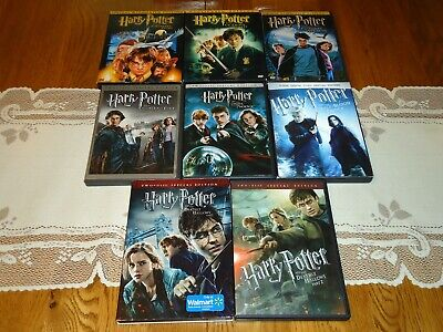 Harry Potter Complete 8 Movie Set, Years 1-7 Part 2 Widescreen 16 DVD Collection