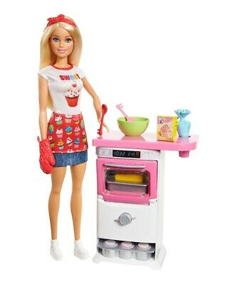 Barbie Cooking & Baking Baker Play Set |Mattel FHP57|Barbie Doll from 3 J.