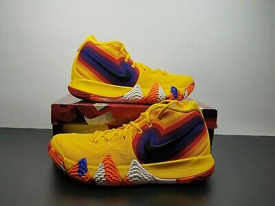 first rate 196ca 276e5 NIKE KYRIE 4 70s Decade Yellow Orange Basketball Shoes 943806-700 Mens SZ  10.5