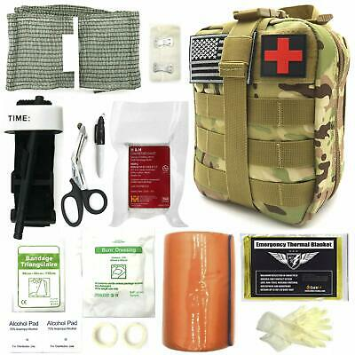 "Everlit Emergency Survival Trauma Kit with Tourniquet 36"" Splint, Military Style"
