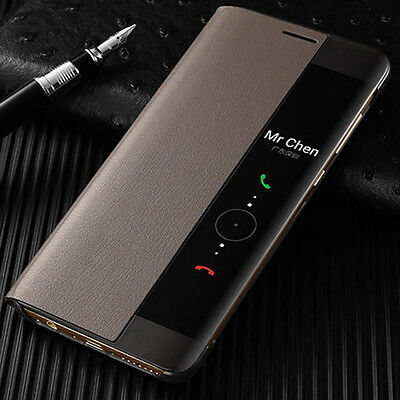 separation shoes 07ec3 bc590 SMART VIEW LEATHER Flip Case Cover For Huawei P30 P20 P10 Mate 9 10 20 Pro  20X