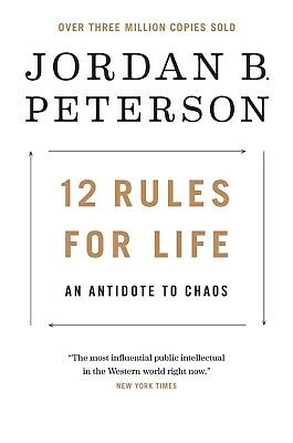 12 Rules for Life: An Antidote to Chaos Jordan B. Peterson Philosophy Hardcover