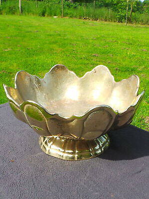 French Antique Polished Bronze Monteith Coup de Verre Champagne Bucket Cooler