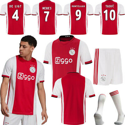 19/20 Ajax Football Club Home Kit Kids Adult Racing Strips Soocer Jersey Outfits