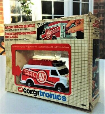 1970s *WKG CORGI RADIO LUXEMBOURG 208 RTL Roadshow Van in BOX DJ PIRATE Caroline