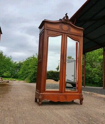 Stunning French Double Mirrored Large Armoire Wardrobe