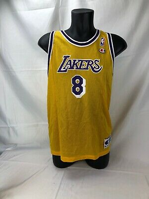 997b5a087 Vintage 90 s Kobe Bryant  8 Los Angeles Lakers Champion Jersey Youth XL  18-20