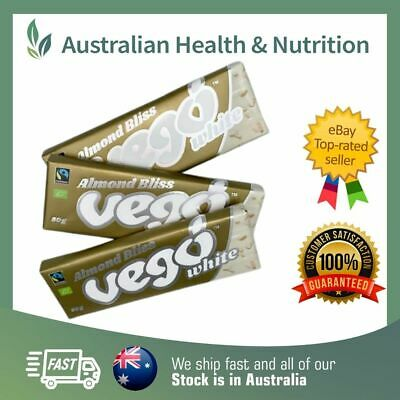 Almond Bliss Vego White Chocolate - All Sizes -Organic ,Raw, Vegan & Gluten Free